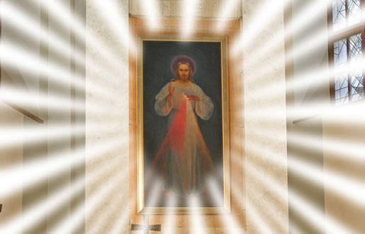 Divine Mercy Image White Light