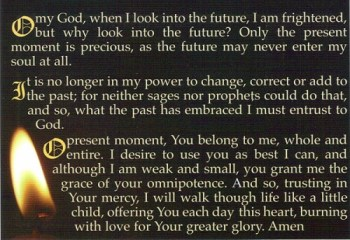 St. Faustina Present Moment Prayer