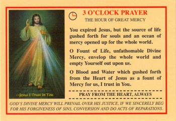 3 O'Clock Prayer (Credit Card Size)