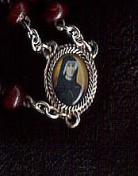 St.Faustina Relic Medal Rosary Beads