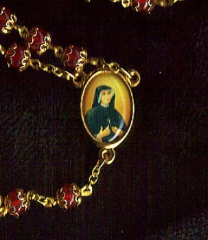 Divine Mercy Gold Rosary Beads